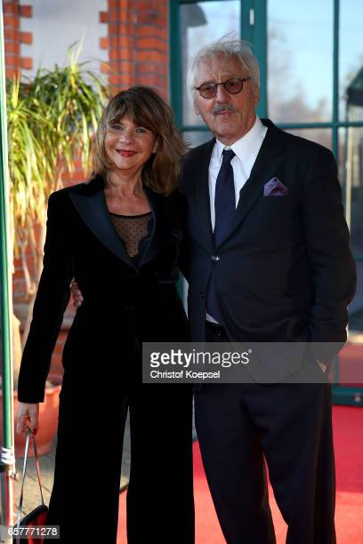 Actor Guenther Maria Halmer and wife Claudia Halmer poses during the Steiger Award at Coal Mine Hansemann 'Alte Kaue' on March 25 2017 in Dortmund...