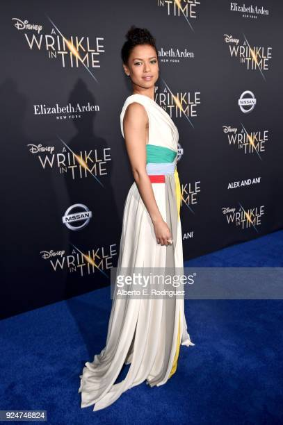 Actor Gugu MbathaRaw arrives at the world premiere of Disney's 'A Wrinkle in Time' at the El Capitan Theatre in Hollywood CA Feburary 26 2018