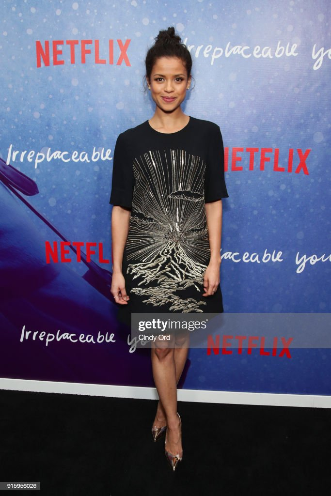 Actor Gugu Mbatha-Raw attends the Special Screening of the Netflix Film 'Irreplaceable You' at The Metrograph on February 8, 2018 in New York City.