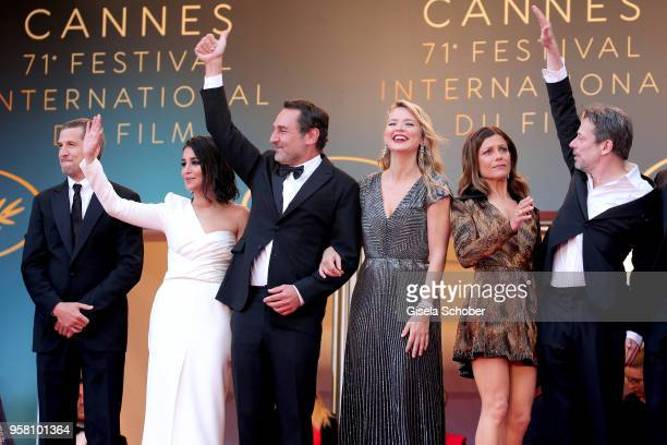 Actor Guillaume Canet actress Leila Bekhti director Gilles Lellouche actresses Virginie Efira and Marina Fois and actor Mathieu Amalric attend the...
