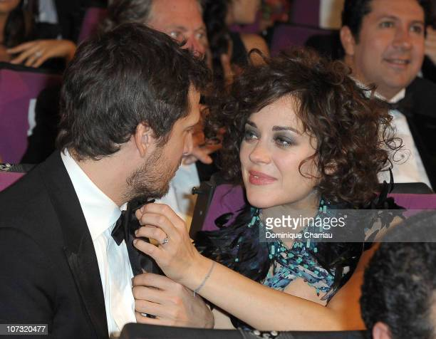 Actor Guillaume Canet and Actress Marion Cotillard attend the opening ceremony of the Marrakech 10th International Film Festival on December 3 2010...