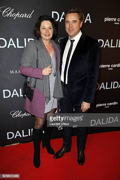 Actor Guillaume de Tonquedec and guest attend Dalida Paris Premiere at L'Olympia on November 30 2016 in Paris France