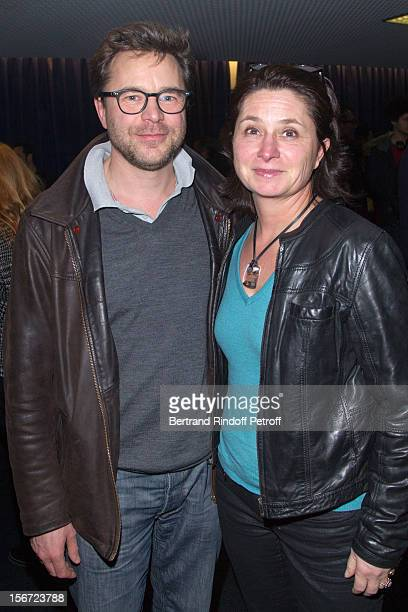 Actor Guillaume de Tonquedec and his wife Christele de Tonquedec attend 'Populaire' Premiere at Cinema UGC Normandie on November 19 2012 in Paris...