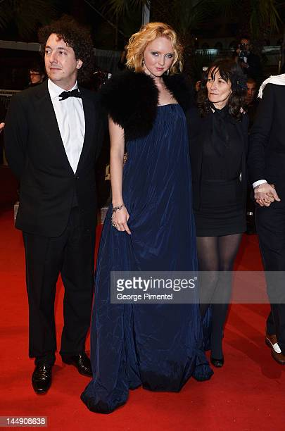 """Actor Guillaume Gallienne, actress Lily Cole and director Sylvie Verheyde attend the """"Confession Of A Child Of The Century"""" Premiere during the 65th..."""