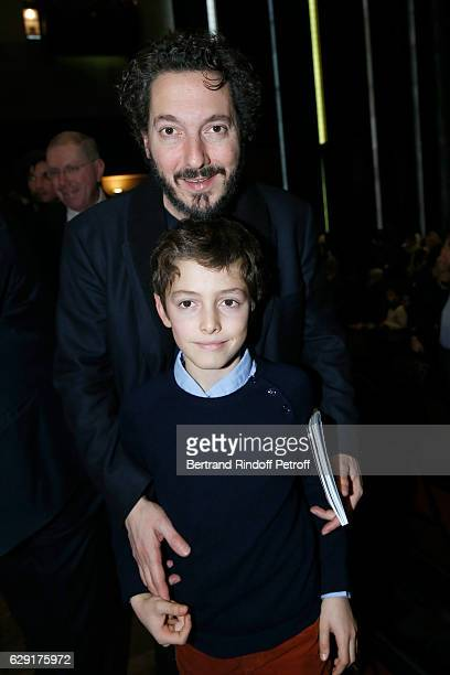 Actor Guillaume Gallienne and his son Tado attend the 'Reves d'Enfant' Charity Gala with the representation of 'Le Lac des Cygnes' at Opera Bastille...