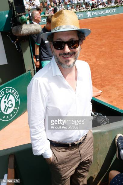 Actor Guillaume Gallienne attends the Men Final of the 2017 French Tennis Open Day Fithteen at Roland Garros on June 11 2017 in Paris France