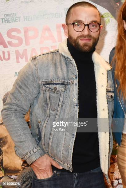 Actor Guillaume Gouix attends the 'Gaspard va au mariage' premiere at UGC Cine Cite des Halles on January 29 2018 in Paris France