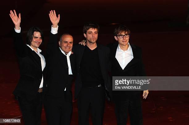 Actor Guillaume Quatravauxdirector Ilan Duran Cohen and actors Julien Baumgartner Lorant Deutsch 3rd Rome Film Festival Premiere of the French film...