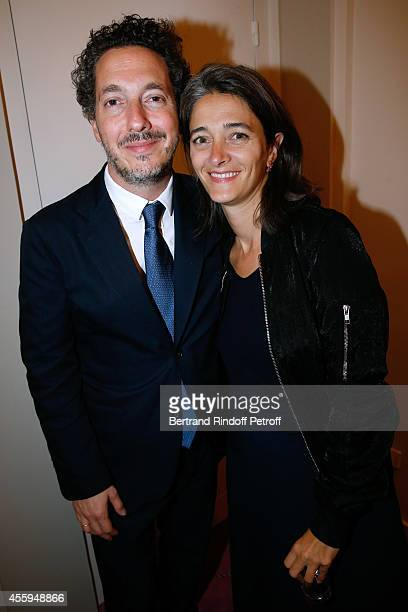 Actor Guillaumre Gallienne and his wife Amandine attend the Norway National Ballet at Theatre des Champs Elysees on September 22 2014 in Paris France