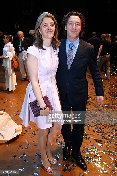 Actor Guillaumre Gallienne and his wife Amandine Gallienne attend Star Dancer Aurelie Dupont says goodbye to the Paris Opera performing in...