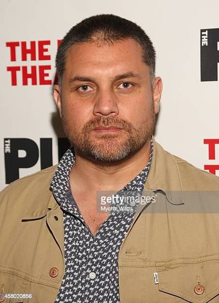 "Actor Guillermo Calderon attends the ""Father Comes Home From The Wars"" opening night at The Public Theater on October 28, 2014 in New York City."