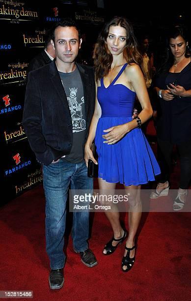 Actor Guri Weinberg and actress Angela Sarafyan arrive for Summit Entertainment's The Twilight Saga Breaking Dawn PART 2 VIP ComicCon Celebration...