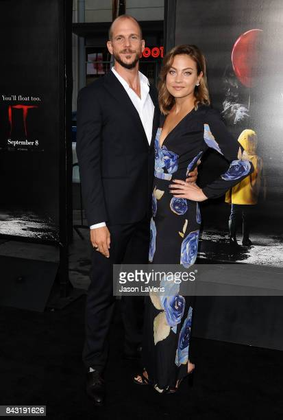 Actor Gustaf Skarsgard and Carolina Sjostrand attend the premiere of 'It' at TCL Chinese Theatre on September 5 2017 in Hollywood California
