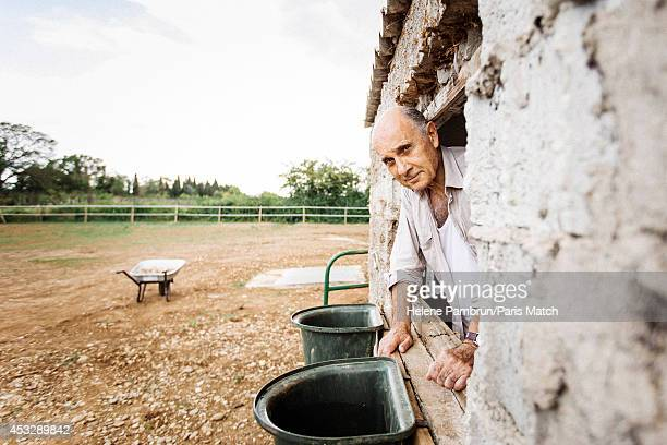 Actor Guy Marchand is photographed for Paris Match on June 21, 2014 in Avignon, France.