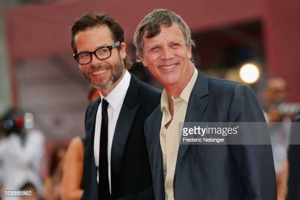 Actor Guy Pearce and director Todd Haynes attend the Mildred Pierce premiere during the 68th Venice Film Festival at Palazzo del Cinema on September...