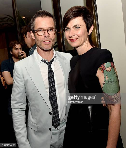 Actor Guy Pearce and his wife Kate Mestitz pose at the after party for the premiere of A24's 'The Rover' at The W Hotel on June 12 2014 in Los...