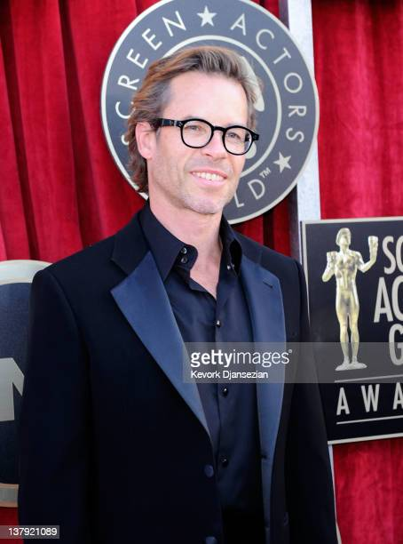 Actor Guy Pearce arrives at the 18th Annual Screen Actors Guild Awards at The Shrine Auditorium on January 29 2012 in Los Angeles California