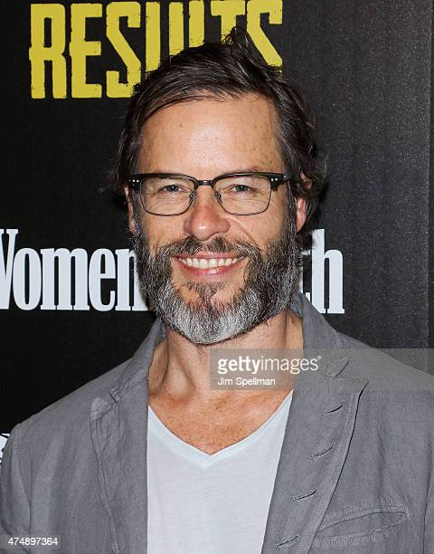 Actor Guy Pearce attends Magnolia Pictures' Results premiere hosted by The Cinema Society with Women's Health and FIJI Water at Sunshine Landmark on...