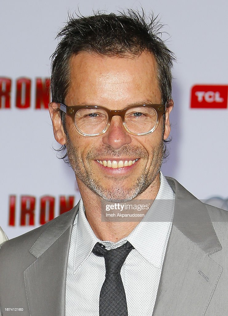 Actor Guy Pearce attends the premiere of Walt Disney Pictures' 'Iron Man 3' at the El Capitan Theatre on April 24, 2013 in Hollywood, California.