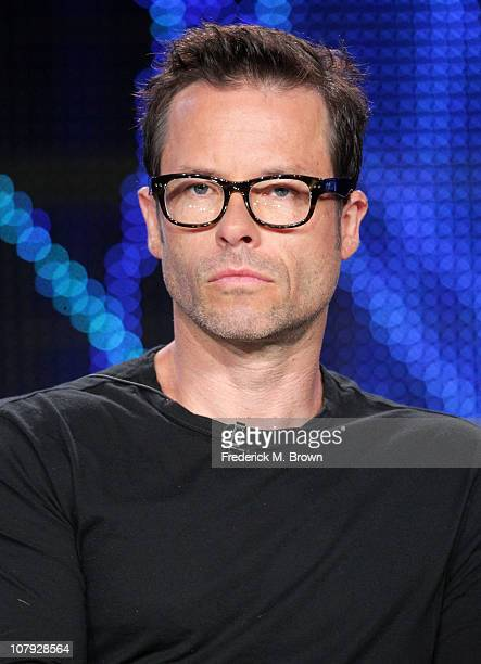 Actor Guy Pearce speaks during the 'Mildred Pierce' panel at the HBO portion of the 2011 Winter TCA press tour held at the Langham Hotel on January 7...
