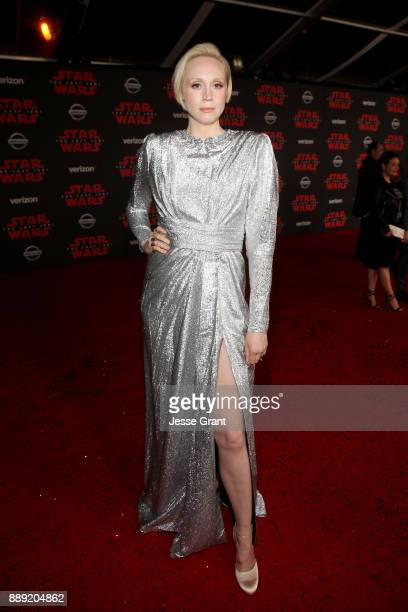 Actor Gwendoline Christie at Star Wars The Last Jedi Premiere at The Shrine Auditorium on December 9 2017 in Los Angeles California