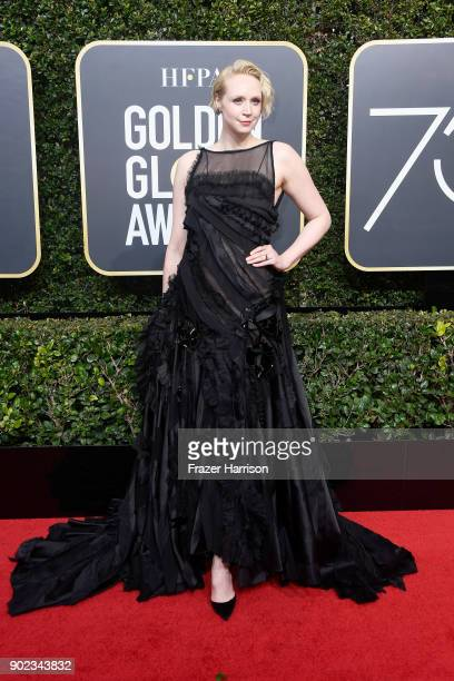 Actor Gwendoline Christie attends The 75th Annual Golden Globe Awards at The Beverly Hilton Hotel on January 7 2018 in Beverly Hills California