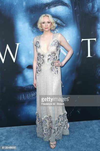 Actor Gwendoline Christie attends the premiere of HBO's 'Game Of Thrones' season 7 at Walt Disney Concert Hall on July 12 2017 in Los Angeles...