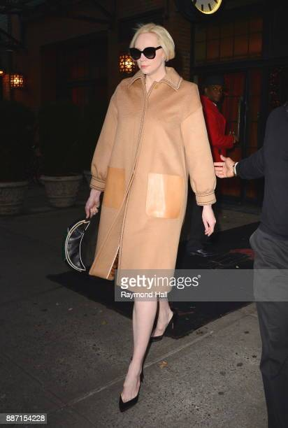 Actor Gwendoline Christie is seen walking in Soho on December 6 2017 in New York City