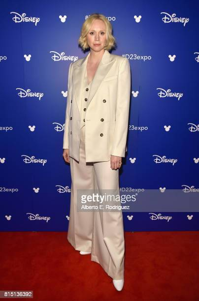 Actor Gwendoline Christie of STAR WARS THE LAST JEDI took part today in the Walt Disney Studios live action presentation at Disney's D23 EXPO 2017 in...