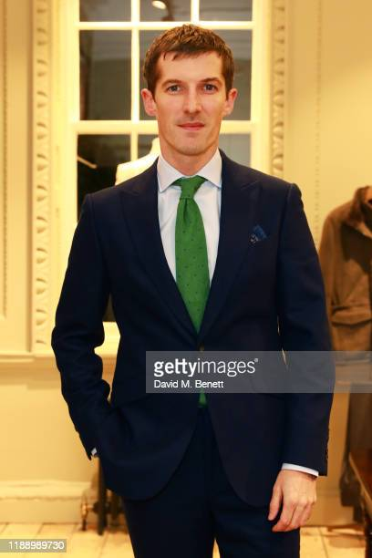 Actor Gwilym Lee attends the opening celebrations for the JP Hackett store at No14 Savile Row on November 20 2019 in London England