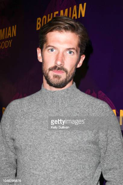 Actor Gwilym Lee poses for a photo on the red carpet for a special screening of 'Bohemian Rhapsody' at the Castro Theatre on October 5 2018 in San...