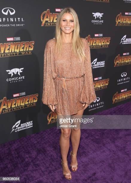 Actor Gwyneth Paltrow attends the Los Angeles Global Premiere for Marvel Studios' Avengers Infinity War on April 23 2018 in Hollywood California