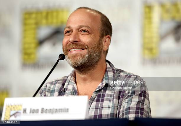 Actor H Jon Benjamin speaks onstage at the Archer screening and QA during ComicCon International 2013 at Hilton San Diego Bayfront Hotel on July 19...