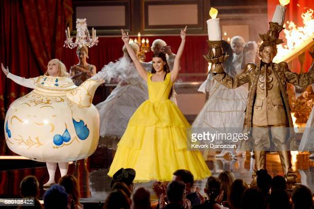 Actor Hailee Steinfeld performs onstage during the 2017 MTV Movie And TV Awards at The Shrine Auditorium on May 7 2017 in Los Angeles California