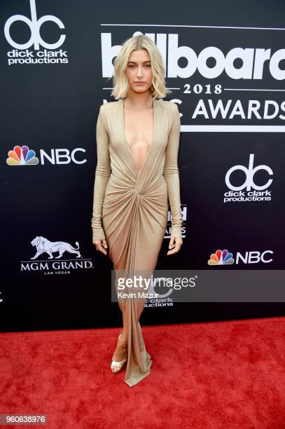 Actor Hailey Baldwin attends the 2018 Billboard Music Awards at MGM Grand Garden Arena on May 20 2018 in Las Vegas Nevada