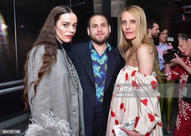 Actor Hailey Gates Actor Jonah Hill and Stylist Vanessa Traina attend the Prada Resort 2019 fashion show on May 4 2018 in New York City