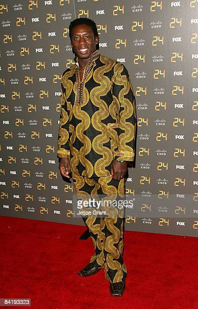Actor Hakeem KaeKazim arrives at the 24 150th Episode and Season 7 Premiere Party held at XIV on January 6 2009 in Los Angeles California