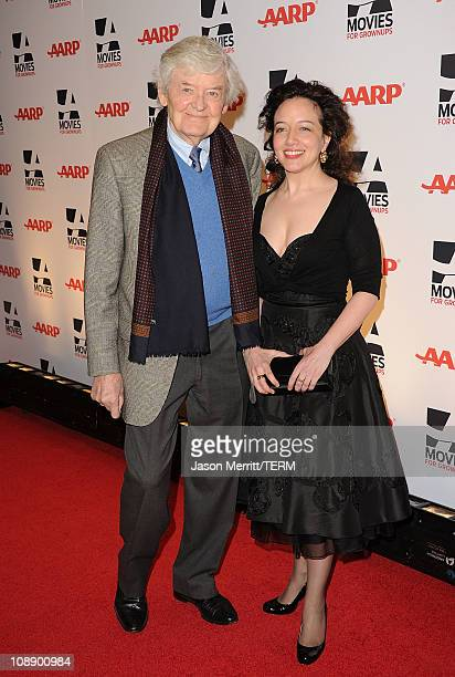 Actor Hal Holbrook and Ginna Carter arrive at the AARP Magazine 10th Annual Movies For Grownups Awards at the Beverly Wilshire Four Seasons Hotel on...