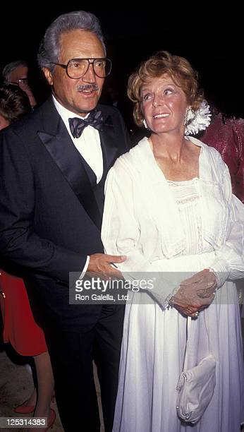 Actor Hal Linden and wife Frances Martin attend Mauna Lani Celebrity Sports Invitational Dinner Gala on May 16, 1991 at the Ritz Carlton Hotel in...