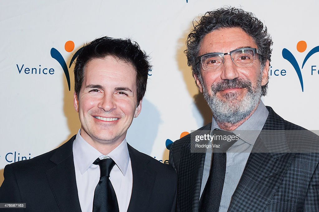 Actor Hal Sparks (L) and writer Chuck Lorre attend the Venice Family Clinic's 35th Annual Silver Circle Gala at The Beverly Hilton Hotel on March 3, 2014 in Beverly Hills, California.