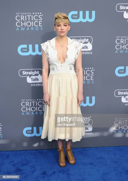 Actor Haley Bennett attends The 23rd Annual Critics' Choice Awards at Barker Hangar on January 11 2018 in Santa Monica California