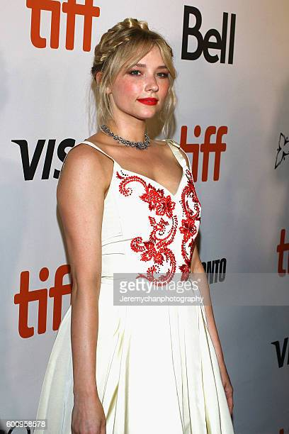 Actor Haley Bennett attends the 'The Magnificent Seven' premiere held at Roy Thomson Hall during the Toronto International Film Festival on September...