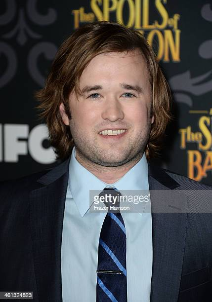 Actor Haley Joel Osment attends the screening of IFC's The Spoils Of Babylon at DGA Theater on January 7 2014 in Los Angeles California