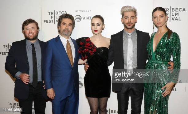 """Actor Haley Joel Osment, director Joe Berlinger, actors Lily Collins, Zac Efron and Angela Sarafyan attend the screening of """"Extremely Wicked,..."""