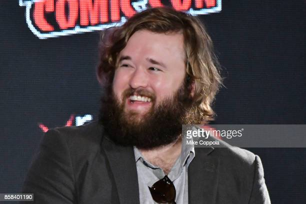 Actor Haley Joel Osment participates in Hulu's Future Man panel at New York Comic Con at Jacob Javits Center on October 6 2017 in New York City