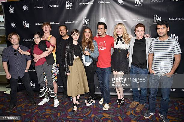 Actor Haley Joel Osment social media personalities Nik Keswani and Logan Paul producer Aaron Burns actresses Lily Collins and Lorenza Izzo director...