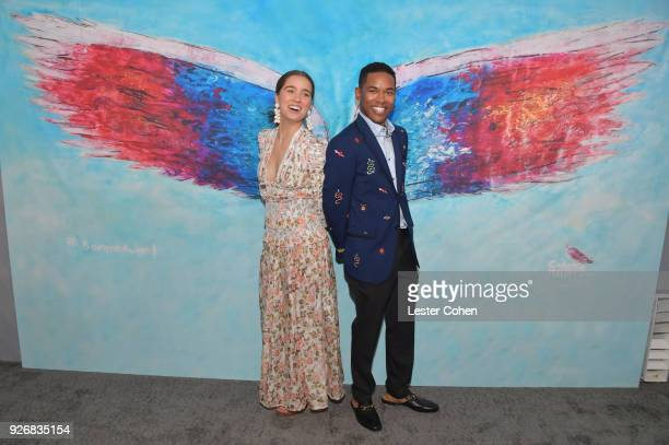 Actor Haley Lu Richardson and Kelvin Harrison Jr attend American Airlines at the 2018 Film Independent Spirit Awards on March 3 2018 in Santa Monica...