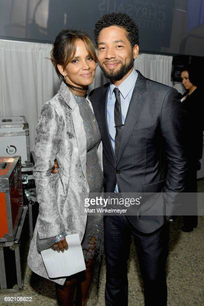 Actor Halle Berry and Host Jussie Smollett at the 16th Annual Chrysalis Butterfly Ball on June 3 2017 in Los Angeles California