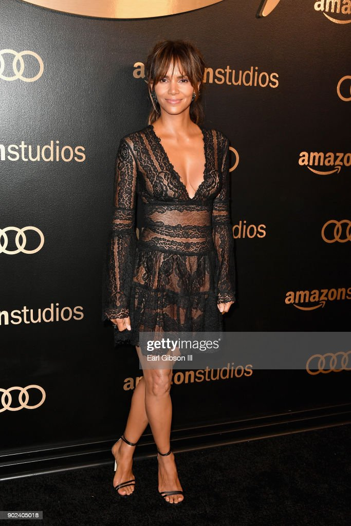 Actor Halle Berry attends Amazon Studios' Golden Globes Celebration at The Beverly Hilton Hotel on January 7, 2018 in Beverly Hills, California.