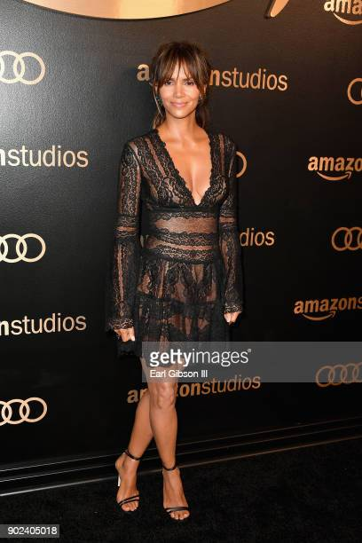 Actor Halle Berry attends Amazon Studios' Golden Globes Celebration at The Beverly Hilton Hotel on January 7 2018 in Beverly Hills California